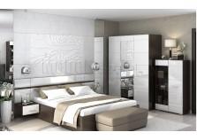 Вегас (венге/белый) Спальня НАБИРАЕТСЯ ПОЭЛЕМЕНТНО