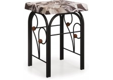Банкетка Милая черная | Кованая мебель