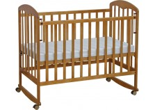 Фея-323 (мед) Кроватка детская, массив (сп.место: 60х120)