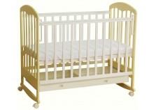 Фея-325 (белый-ваниль) Кроватка детская, массив (сп.место: 60х120)
