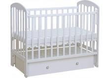 Фея-328 (белый) Кроватка детская, массив (сп.место: 60х120)