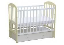 Фея-328 (белый/ваниль) Кроватка детская массив (сп.место: 60х120)