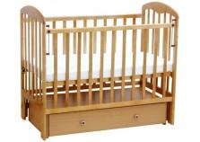 Фея-328 (натур) Кроватка детская массив (сп.место: 60х120)