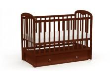 Фея-328 (орех) Кроватка детская массив (сп.место: 60х120)