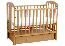 Фея-328 (беж) Кроватка детская массив (сп.место: 60х120)