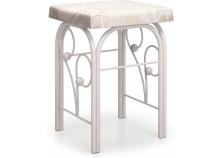 Банкетка Милая белая | Кованая мебель