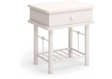 Тумба прикроватная Милая белая | Кованая мебель