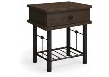 Тумба прикроватная Милая черная | Кованая мебель